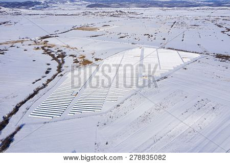 Aerial Image Of Snow Covered