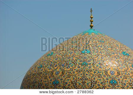 Dome Of Sheikh Lotf Allah Mosque, Isfahan, Iran
