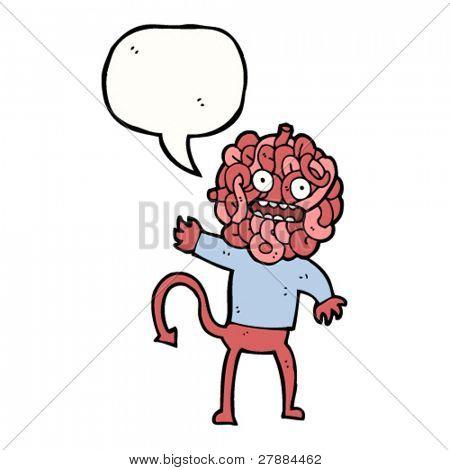 cartoon spaghetti monster