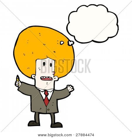 cartoon big hair ginger office guy