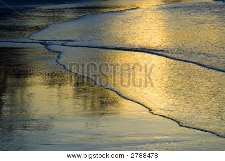 Golden Wave Ripples