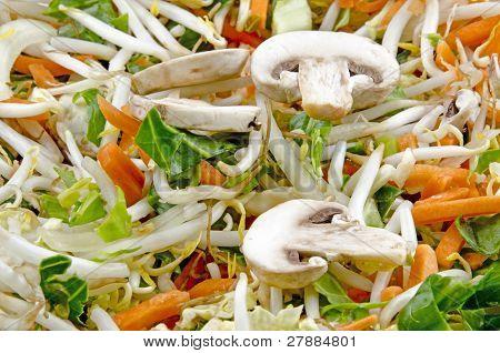 Stir Fry With Sliced Mushrooms