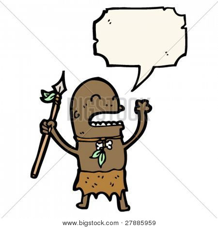 cartoon tribesman chanting
