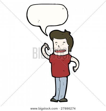 cartoon man pointing at self