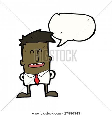 cartoon office man talking