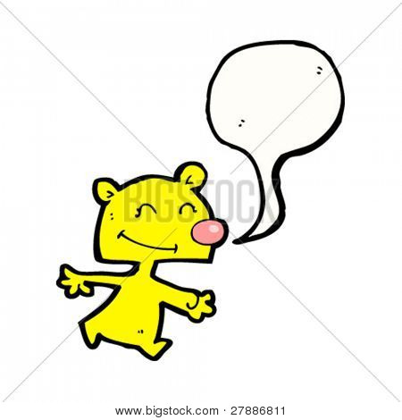 cute cartoon bear with speech bubble