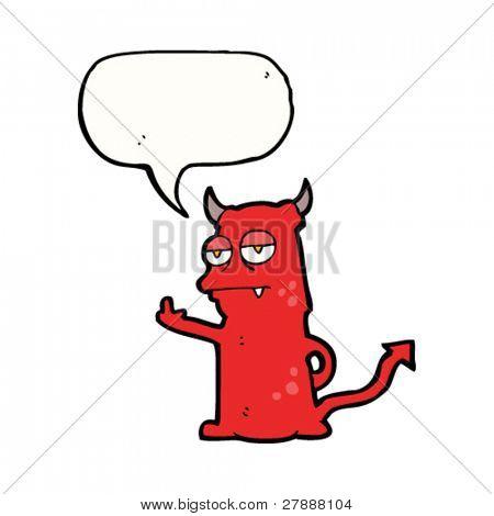 cartoon rude little devil