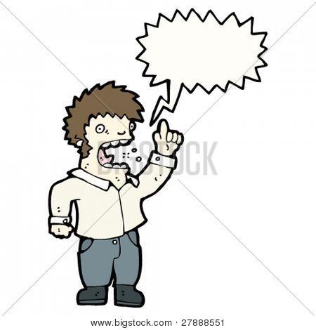 cartoon man complaining