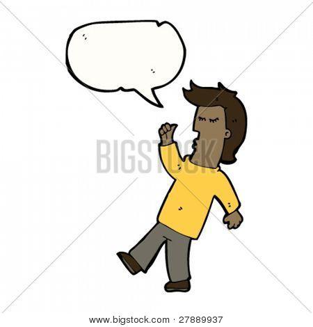 cartoon man pointing at himself
