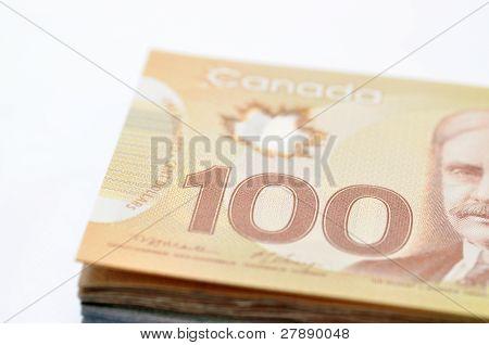 Canadian money background