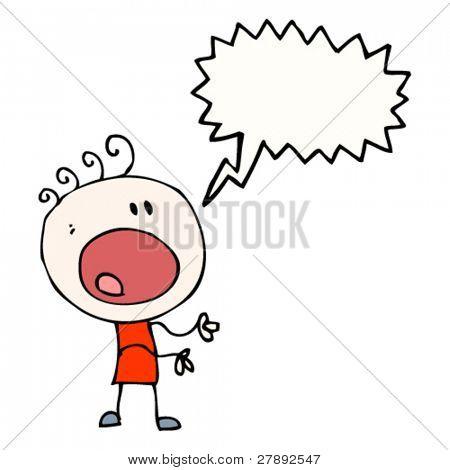 cartoon complaining doodle man