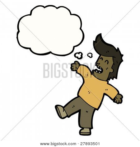 cartoon man falling over