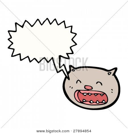 cartoon wailing cat