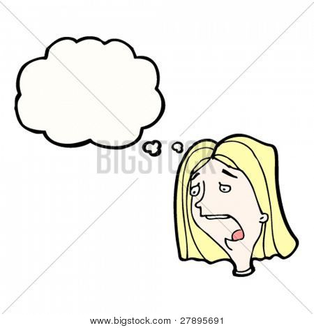 cartoon shocked blond woman