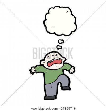 cartoon boy throwing a tantrum
