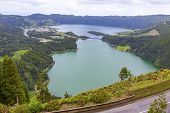 Picturesque View Of The Lake Of Sete Cidades (seven Cities Lake), A Volcanic Crater Lake On Sao Mi poster