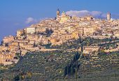 Panoramic View Of Trevi Historical Center, Picturesque Mediaeval Village In Umbria, Italy poster