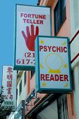 stock photo of fortune-teller  - fortune tellers sign - JPG