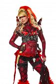 pic of flogger  - Sexy devil go go dancer in body paint - JPG