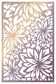 Vector Laser Cut Panel. Abstract Pattern With Flowers. Template For Decorative Panel With Nature The poster