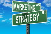 picture of marketing strategy  - Business slogans on a road and street signs - JPG