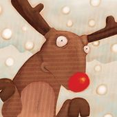 picture of rudolf  - close up reindeer   - JPG