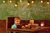 School Food. Little Boy Have School Food. Child Enjoy School Food. School Food For Schoolboy. Be Sma poster