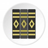 Three Literary Books Icon In Flat Circle Isolated Illustration For Web poster