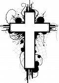 Grunge Cross Emblem poster