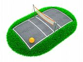 picture of volleyball  - 3D Concept Volleyball Arena on White Background - JPG