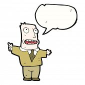 image of moaning  - cartoon bald man complaining - JPG