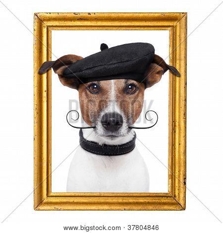 Painter Artist Frame  Dog