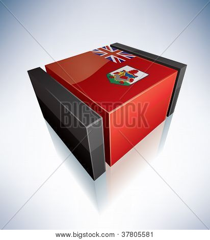 3D Flag Of Bermuda