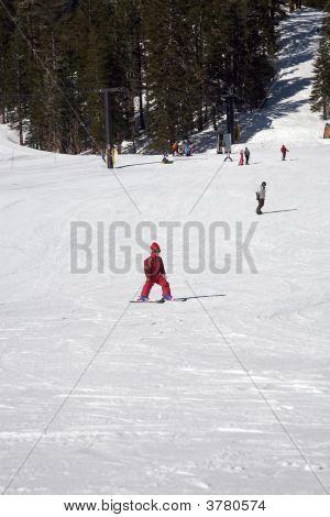 Kid On Skis