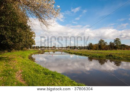 Dutch Landscape In The  Autumn Season