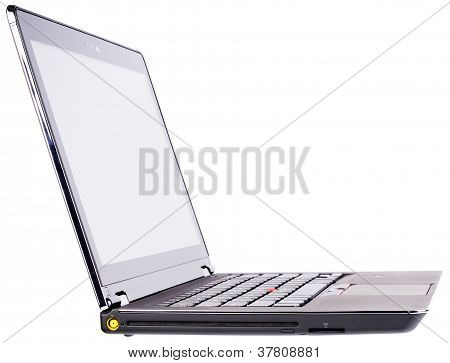 Laptop Side Isometric View Isolated
