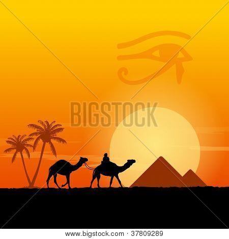 """Ã""""gypten-Symbole und Pyramiden"""