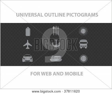 Web universal outline symbols