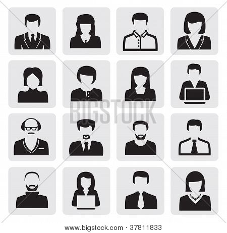 ícones de avatar