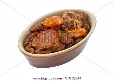 Feijoada In The Bowl In White Background