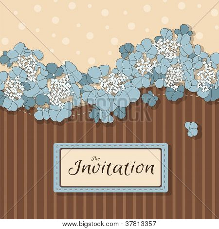 Floral background with flowers in pastel colors