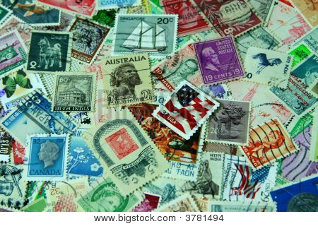 Postage Stamps Background2