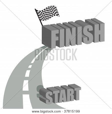 Start To Finish Road Illustration Design