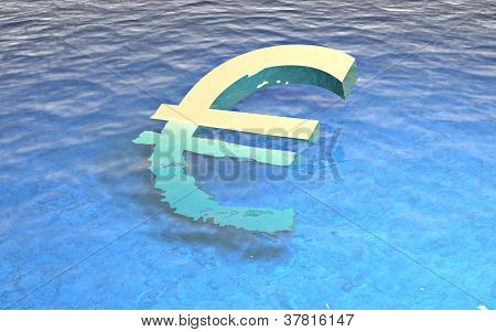 3D Euro Drowning In Water