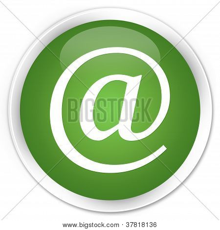 Email Address Icon Green Button