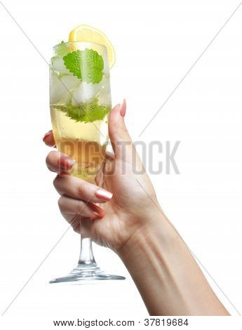 Woman Holding A Champange Glass