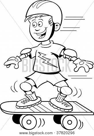 Skateboard-junge