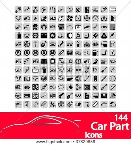 Auto deel pictogrammen