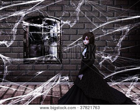 Ghost In Haunted Castle