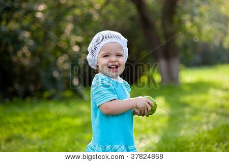 cute baby girl in the park